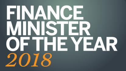 Finance minister of the year 2018 logo teaser