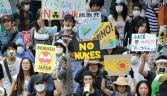 Protests about nuclear power